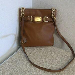 Michael Kors Pebbled Leather Crossbody Bag.